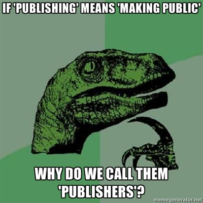 philososaurus on publishing